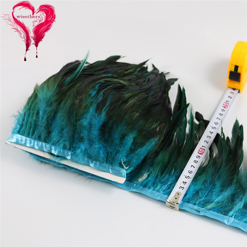 6 turquoise rooster feather trims 5
