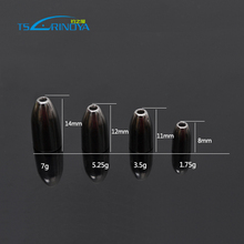 Trulinoya Fishing Sinkers 1.7g,3.5g,5.25g,7g Alloy Bullet Shape Fishing Tools Black Lead Sinker Carp Fishing Accessories D30