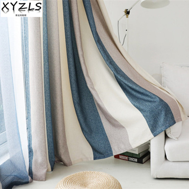 Xyzls New Euro Cortina Striped Blinds Shade Blackout Curtains Sheer Tulle Curtain For Living Room Bedroom