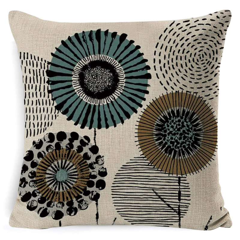 Sweet life Cushion Cover lower Home Decoration Pillow Cover Rustic Style Pillow Case 45 45CM Sofa Cushions Floral kussenhoes in Cushion Cover from Home Garden