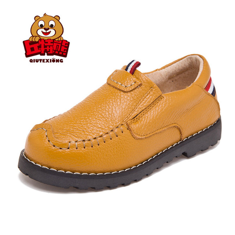 Fashion Genuine Leather Boys Shoes Kids Sneakers Soft School Shoes 2018 New Children Shoes Outdoor Casual Shoes for Girls