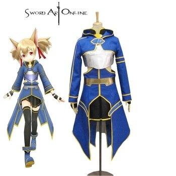 High-Q Unisex Japan Anime Cos Sword Art Online SAO ALO Cos Ayano Keiko Cosplay Costume Sets