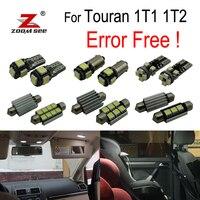 18x LED License plate lamp + Parking position + Interior reading Lights Kit for Volkswagen VW Touran 1T1 1T2 (2003 2010)