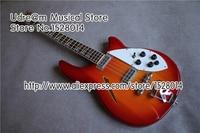 Лидер продаж вишнево золотистый Рик Suneye электрический бас гитары 4 Строка полые средства ухода за кожей и комплект на заказ для левшей досту