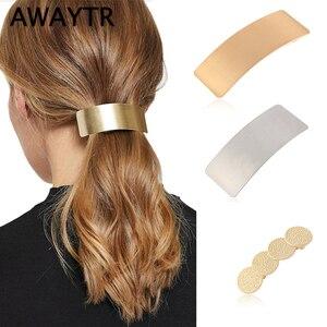AWAYTR Simple Korean Metal Hair Clips Fo