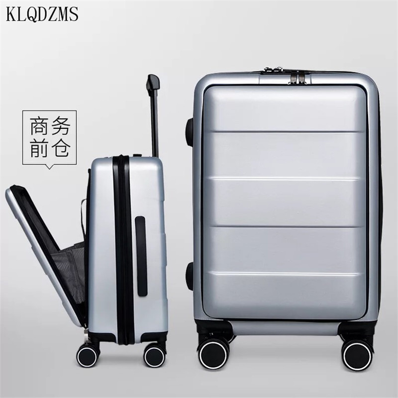 KLQDZMS 20 inch creative rolling luggage spinner cabin laptops trolley women and men business suitcase wheels