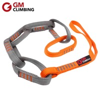 23kN 97cm Nylon Safe Chain CE / UIAA 16mm Double Wrapped Climbing Sling for Personal Anchor System Hammock Suspension