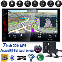 Android 6 Car Radio 7 Inch WIFI DVD 1280x720 Bluetooth USB With Review Camera Universal For