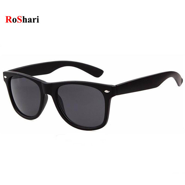 sunglasses on glasses hi8e  RoShari Vintage Classic sun glasses men sunglasses women Brand Designer  women Sunglasses Men Retro sunglass oculos