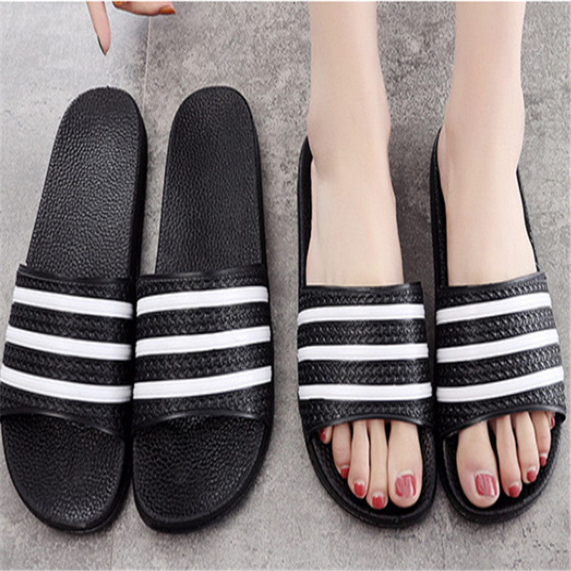 Teen Boys Girls Sandals Shoes Teenage Kids Summer Slippers Man Woman Beach Bath Shoes Home Slippers Casual Stripped PVC Shoes 11