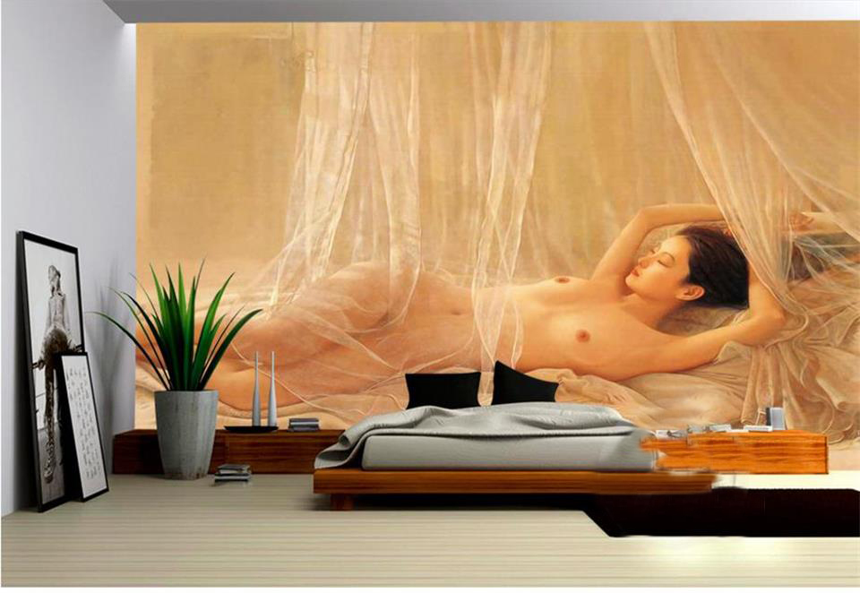 Custom 3d photo wallpaper room mural Perfect naked beauty body oil painting bedroom bar KTV background non-woven wallpaper mural custom 3d mural wallpaper european style painting stereoscopic relief jade living room tv backdrop bedroom photo wall paper 3d