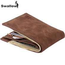 2016 Classic Leather Men s Wallet With Coin Pocket Small Short Men Wallets Luxury Brand Male