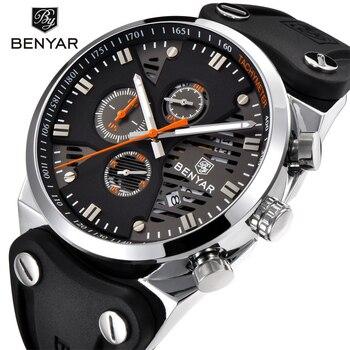 b84de62781c5 BENYAR impermeable deporte 5110 M reloj de marca para hombre de cuarzo de  moda de aleación de lujo Correa reloj de pulsera para pareja Montre  Masculino Saat