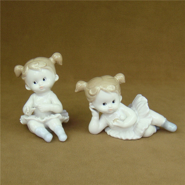 Cute Porcelain Doll Figurine Ceramic Girl Statue Art And Craft Decor Ornament Accessories For Childrens Day