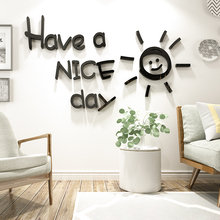 Ins Nordic style Acrylic 3d self-adhesive wall stickers Living room bedroom sofa background wallpaper sun decoration painting
