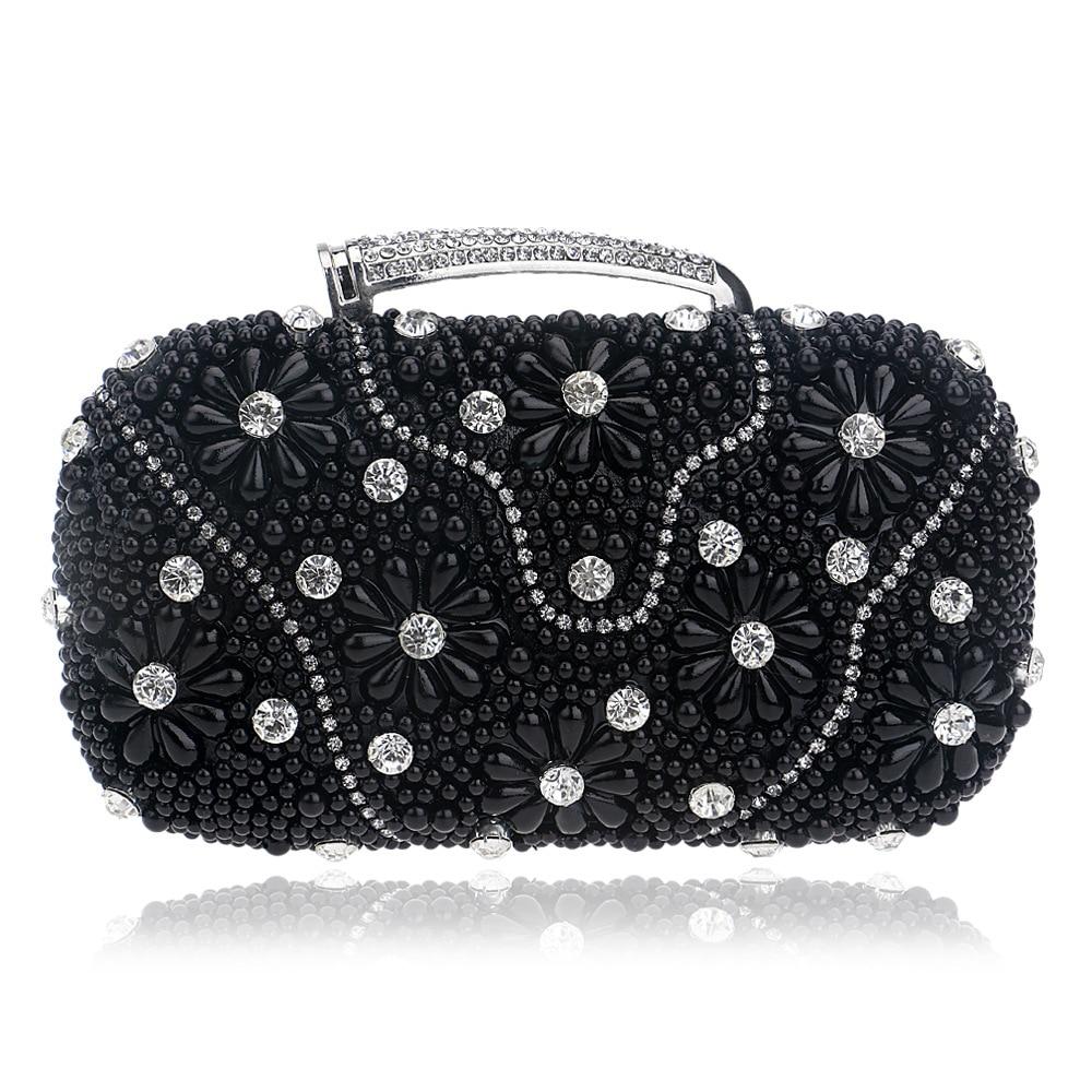 4cdfaa7c4c8f Элегантный Для женщин вечерние сумки цепи плечо сумка бисером и стразами  Сумки с ручкой Ежедневные клатчи
