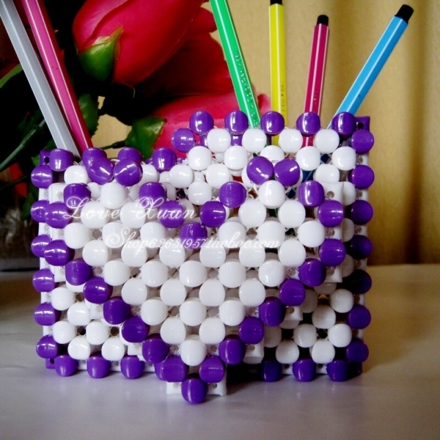 Diy Handcraft Beads Pen Holder Finished Product For Birthday Gift