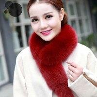 NEW FASHION Winter Scarf Elegant Lady Faux Fox Fur Collar Raccoon Fur Scarf Shawl Collar
