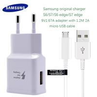 Samsung Galaxy S6 S7 Edge Fast Charger Original Quick Travel Wall Charge 9V1 67A Adapter With