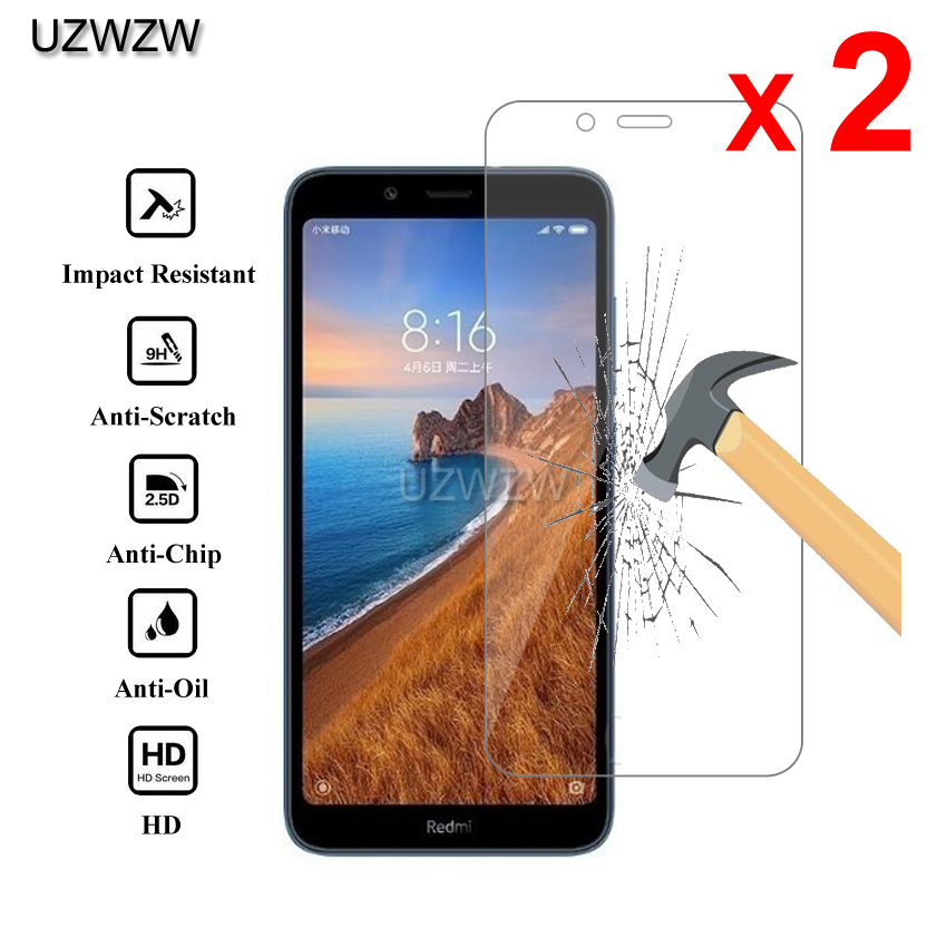 2pcs For Xiaomi Redmi 7A Redmi7a Premium 2.5D 0.26mm Tempered Glass Screen Protector For Xiaomi Redmi 7A Protective Glass