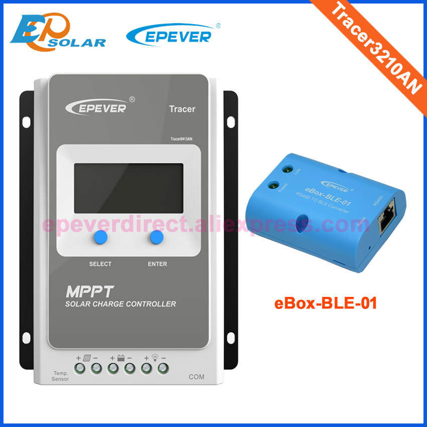 30A 30amp Tracer3210AN mppt Charge solar regulator with eBOX-BLE-01 APP connect Controller built in lcd display