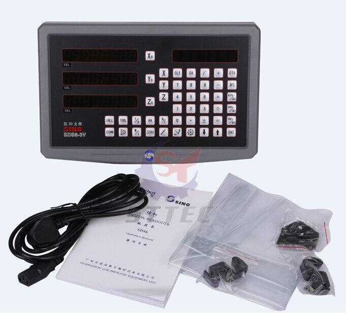 Freies verschiffen Sino SDS6-3V 3 achsen remote dro digitalanzeige für drehmaschine und fräsmaschine