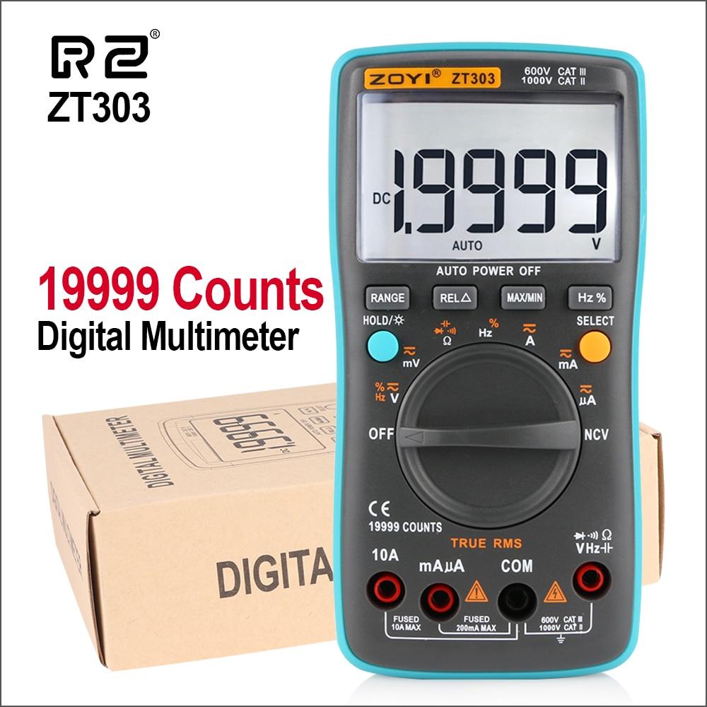 RZ ZT303 19999 Counts Digital Multimeter NCV Frequency 200M Resistance Auto Power off AC DC Voltage