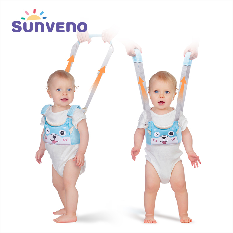 SUNVENO New Baby Walker Toddler Wings Walker Cartoon Pig Safety Walking Belt Baby Harnesses Leashes Baby Walk Assistant Belt