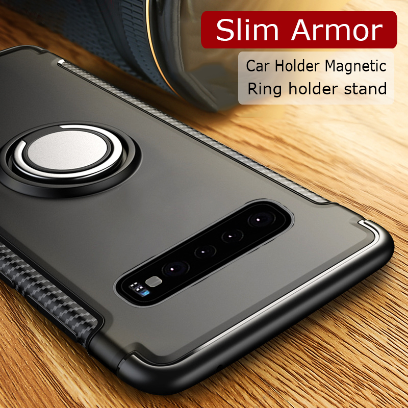 ANERNAI Galaxy S8 Plus 360 Degree Rotating Ring Shockproof Compatible Magnetic Car Mount Cover for Samsung Galaxy S8 Plus