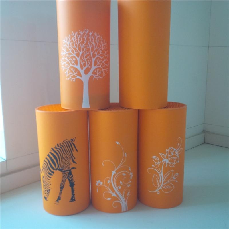 karsts jauns oranža naža plastmasas turētāja bloku statīvs zem asmeņiem virtuves organizatori nažu statīva atbalstam šefpavāra glabāšanai paslēpti