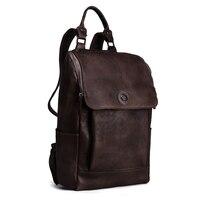 Высокое Качество Англия Винтажный стиль натуральная кожа мужские рюкзаки для колледжа школьные рюкзаки для 14 дюймов сумки для ноутбука 9024