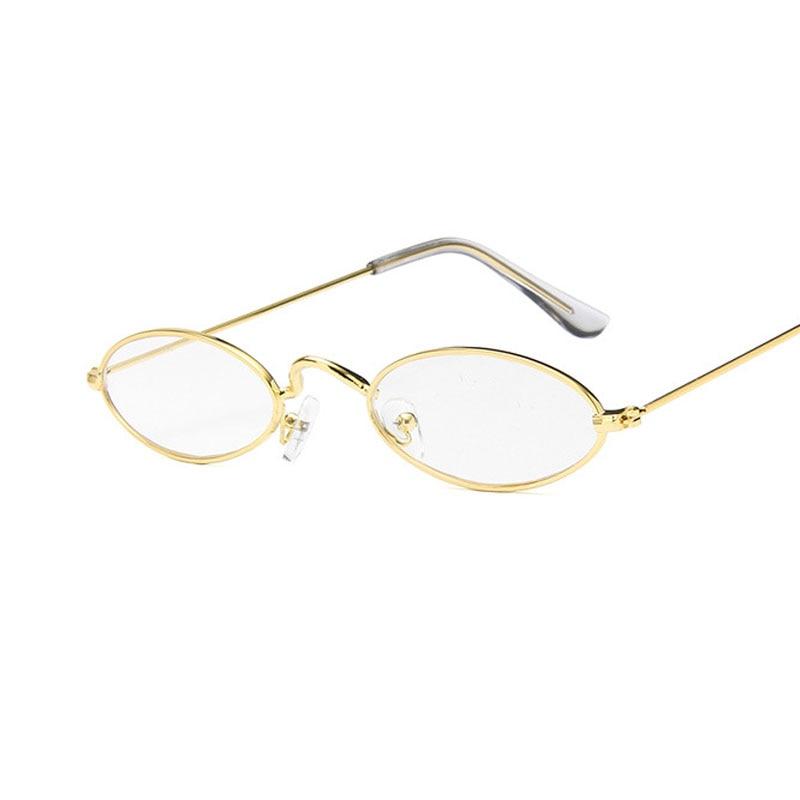 2019 Korean Version Metal Frame Sunglasses Retro Elliptical Frame Sunglasses European and American Ocean Lens Sunglasses in Men 39 s Sunglasses from Apparel Accessories