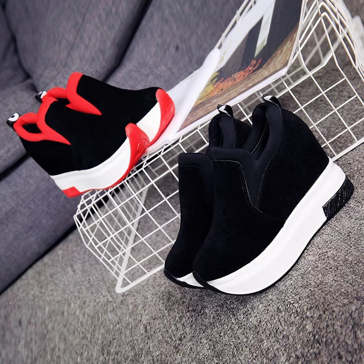 XEK 2018 Women Increased Shoes Women Fashion Platform Loafers Printed Casual Shoes Woman Wedges Shoes Breathable ZLL300 15