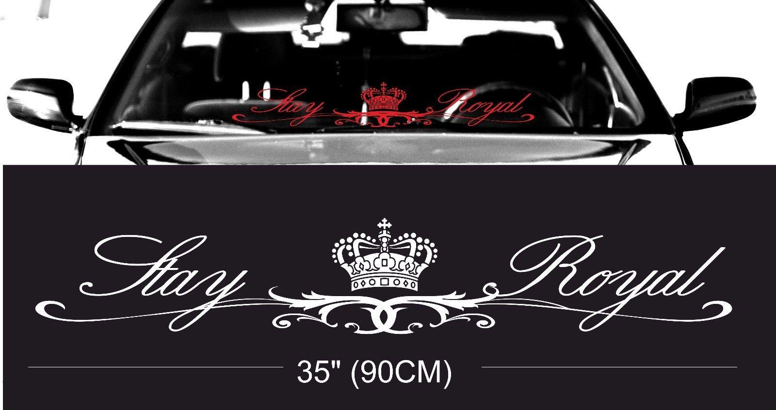Car glass sticker design - Royal Stay Royal Windshield Windscreen Front Glass Car Jdm Decal Sticker China Mainland
