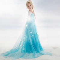 On Sale Baby Kids Girl Clothes Children Clothing Girls Cute Princess Party Dress Anna Elsa Dresseses