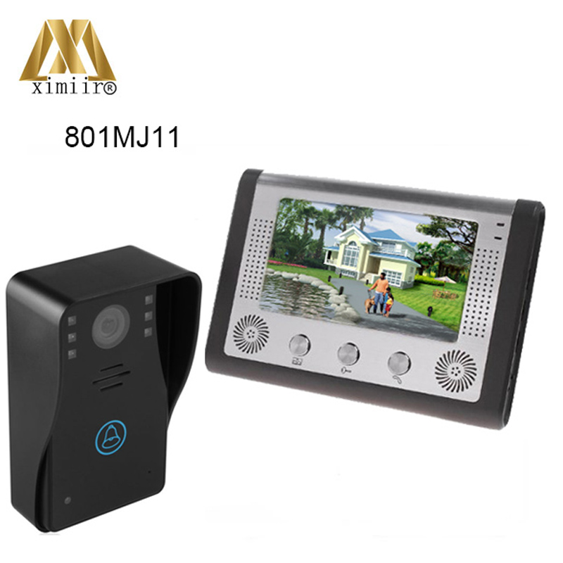 801MJ11 one to one intercom system video doorphone door bell with call function, intercom, lock, monitoring, night vision