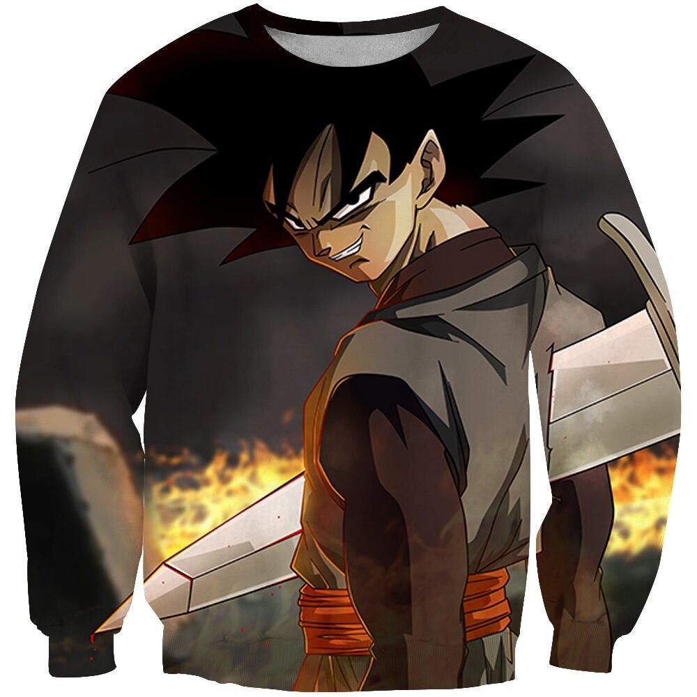 2018 New Fashion Sweatshirt Anime Dragon Ball Z Kid Goku 3d Print Men Women Crewneck Pullover XXXTENTCAION Sweatshirts Hoodie