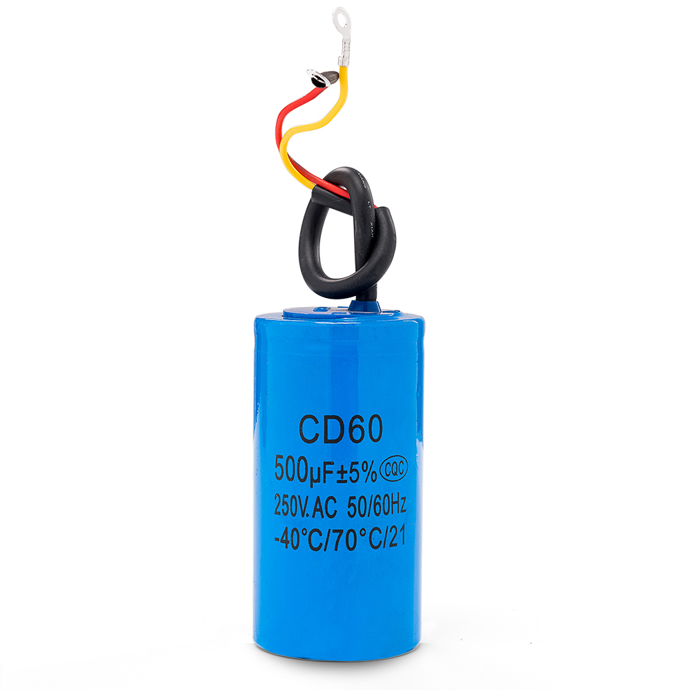 Running Capacitor Motor Start For Electric Machine Cbb60 Wiring To Cd60 500uf 250v Ac Starting Heavy Duty Air Compressor Red Yellow Two