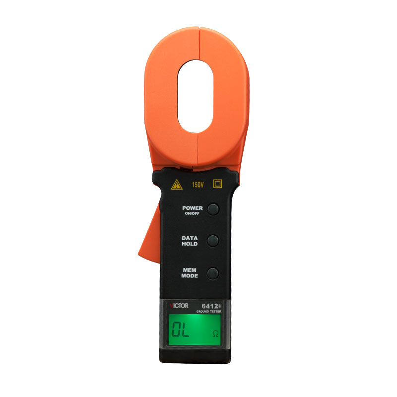 VICTOR 6412+ New Type Digital Clamp Ground resistance tester