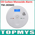 Free Shipping carbon monoxide detector EN50291 co detector with LCD Display Home security Poisoning Smoke Gas Detector