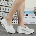2017 women casual shoes women fashion Platform shoes spring swing women genuine leather nurse shoes wedge flats shoes