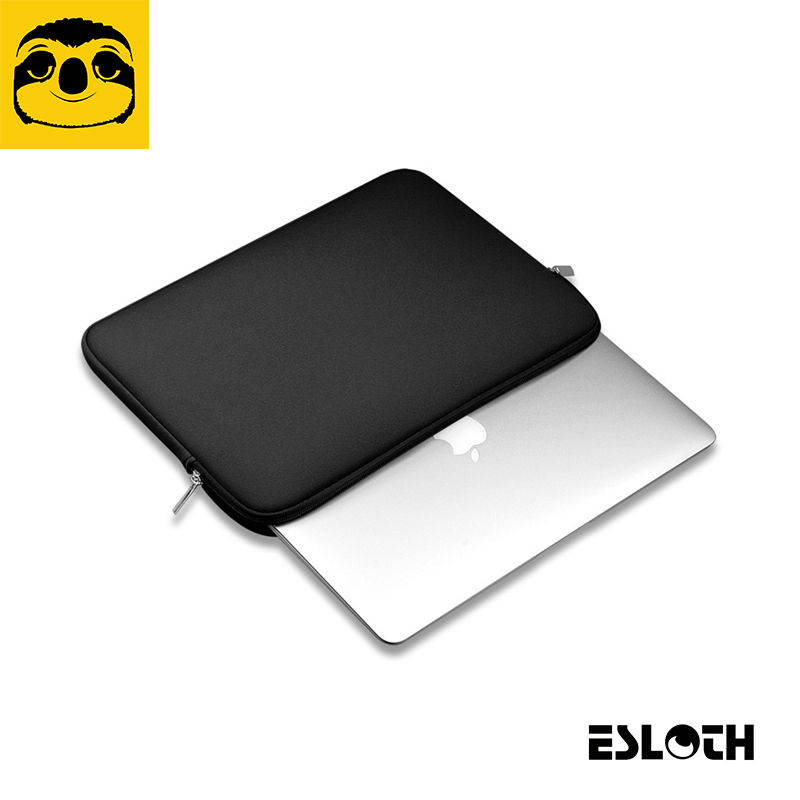 New ESLOTH T266 Black Sleeve Case For Macbook Air Pro Retina 11.6 12 13.3 15.4 inch Notebook Bag 14 inch for All Laptop Bags