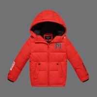 ילדי אופנה מעילי החורף 2016 ילדים חדשים למטה מעיל כותנה מעיל מעיילי הלבשה עליונה מזדמן ברדס בנות DQ095
