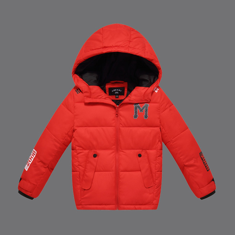 Fashion Children Winter Jackets for Boys 2016 New Kids Down Cotton Jackets Hooded Casual Outerwear Girls Parkas Coat DQ095 baby boys girls cotton padded clothes thick outerwear 2017 new winter kids hooded down parkas plaid casual jacket coat child top