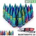 Pivot-20 pc m12x1.5 blox 50mm alta qualidade de alumínio estendido blox750djt-15 jantes sintonizador lug nuts com pico