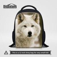 Dispalang Animal Small School Bags for Kindergarten Wolf Print Kids Schoolbag Boys Children Casual Book Bags Mochila infantil