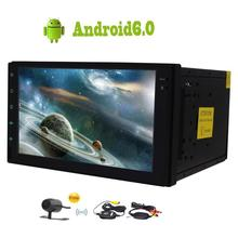 Бесплатная Беспроводной сзади Камера прилагаются! Android 6.0 2 DIN стерео PC Авторадио GPS навигации FM/AM Поддержка USB/SD 3G/4 г WI-FI