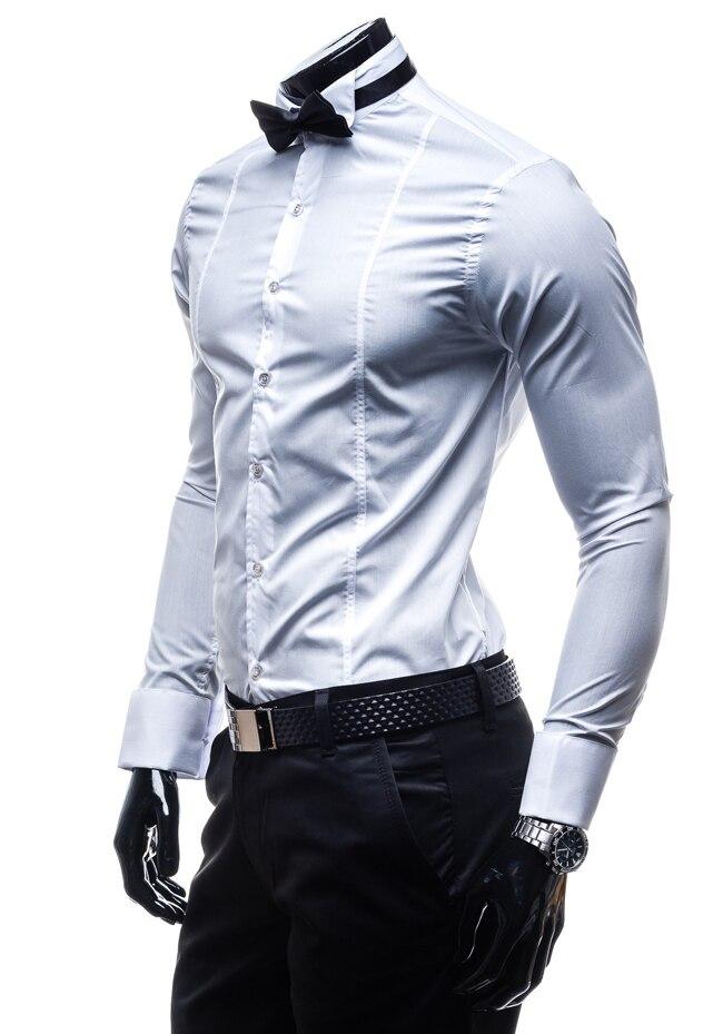 c5ac1ace062 Женатых мужчин отметил воротник рубашки мужские банкетный хост жениха  платье рубашка черный хлопок воротник рубашки банкетный ласточка белая  рубашка купить ...