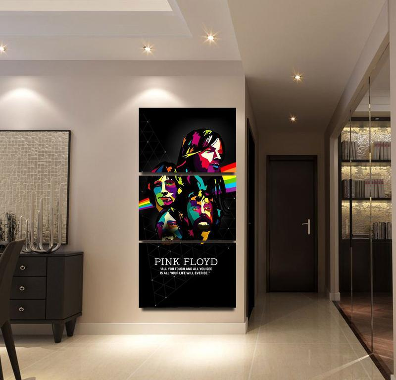 Les Plus Populaires Toile HD Imprimé Affiche Mur Art Cadre 3 Pièces Rose Floyd Peinture Photos Salon Ou Chambre Décoratifs pour la maison