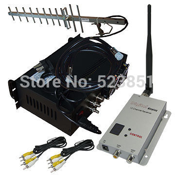 1.2GHz 30KM Long Range CCTV Wireless Video Transmitter 10W 4 channels Video Transmission Equipment 1.2g transmission system